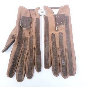 🍒New Isotoner Womens Gloves Stretch Classics Sz M